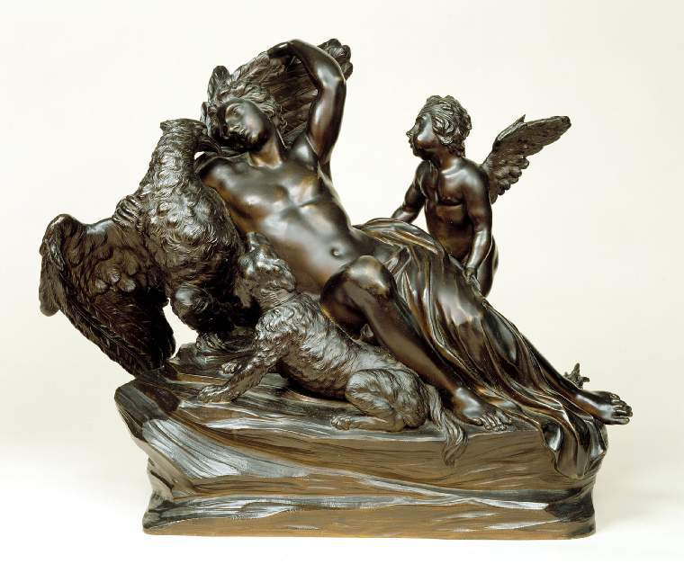 Ganymede and the Eagle, with Cupid and a Dog