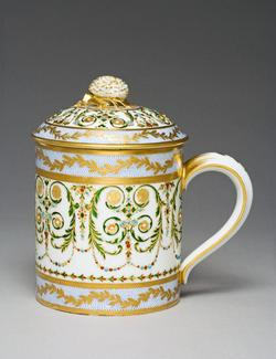 An image of Covered cup and saucer