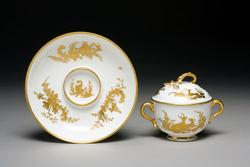 An image of Two-handled cup and saucer
