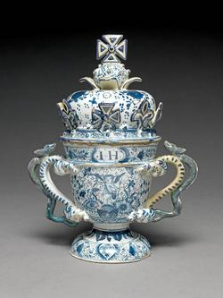 An image of Two-handled cup and cover