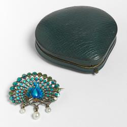 An image of Peacock brooch