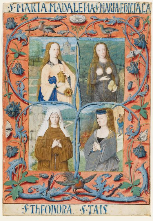 Miniature with saints