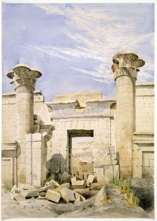 Entrance to the Temple of Rameses III, Medinet Aobu, Egypt