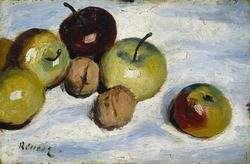 Apples and walnuts, c.1860 - 1870