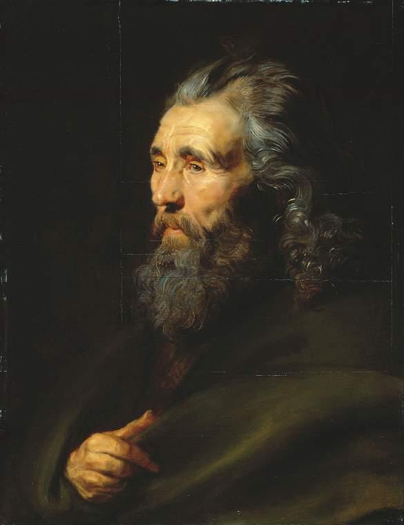 Head study of a bearded man