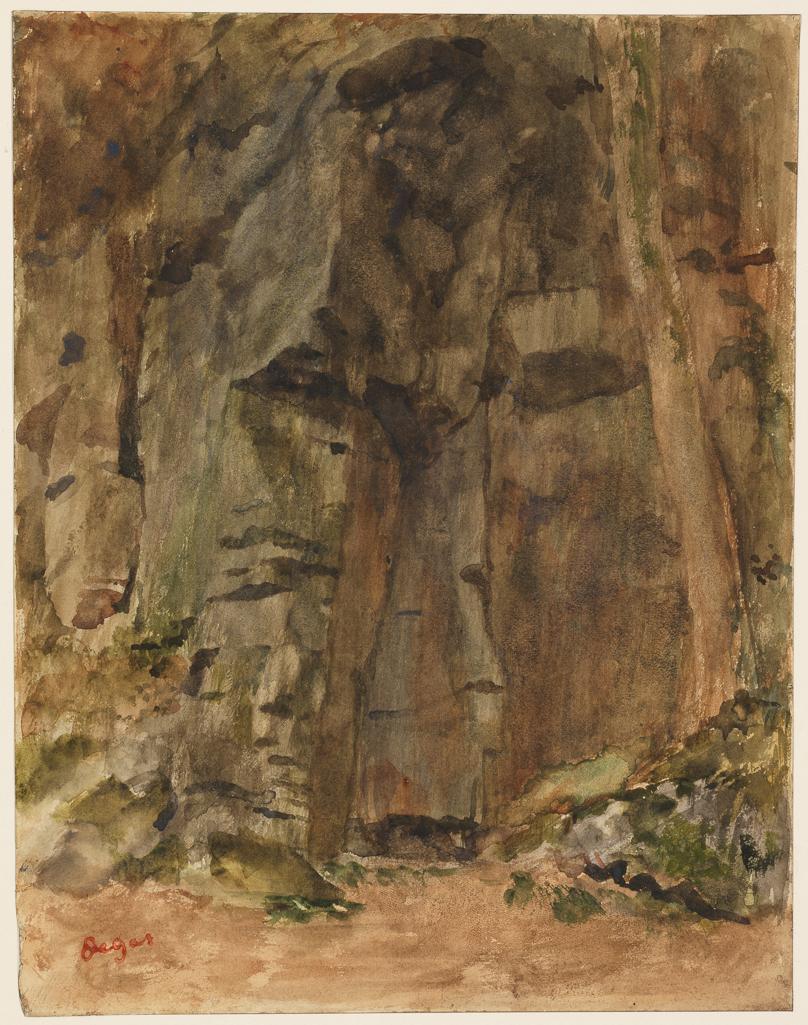 Rocks at Bagnoles-de-l'Orne, c.1867