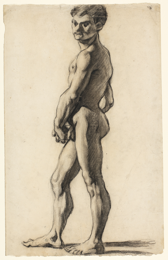 A nude youth by cezanne
