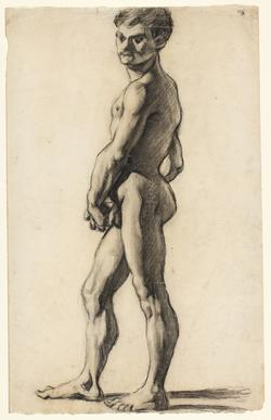 A nude youth