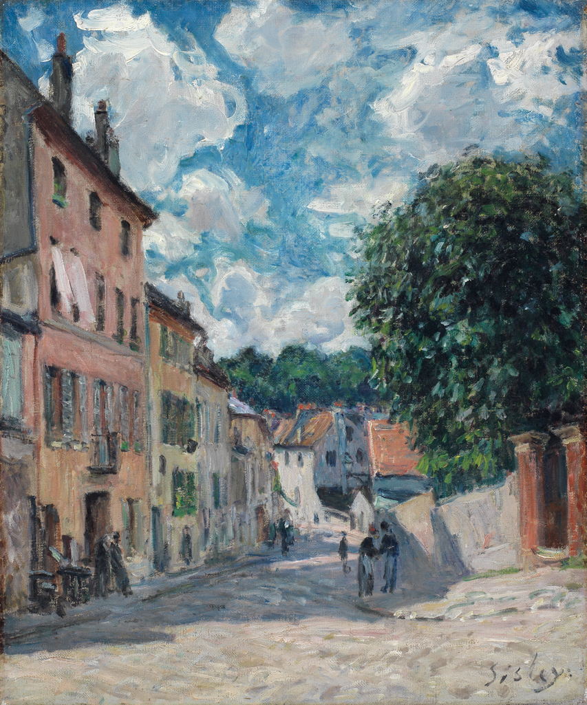 A street, possibly in Port-Marly, c. 1875 — 1877