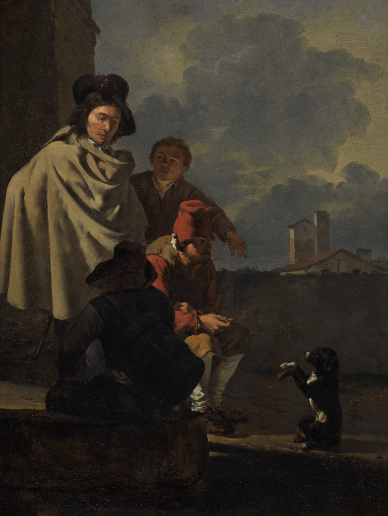 Italians with a dog