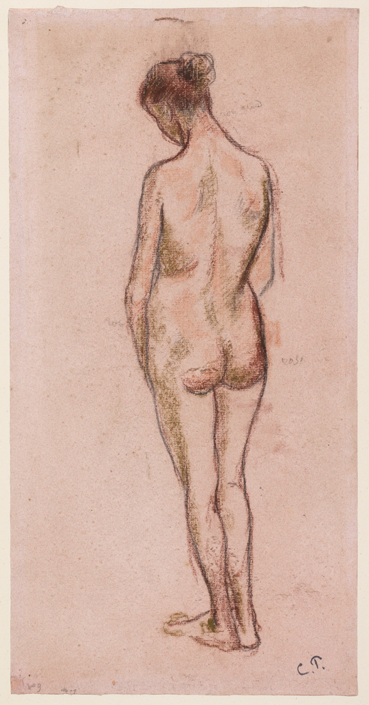 Full-length standing nude woman, viewed from behind, c.1894