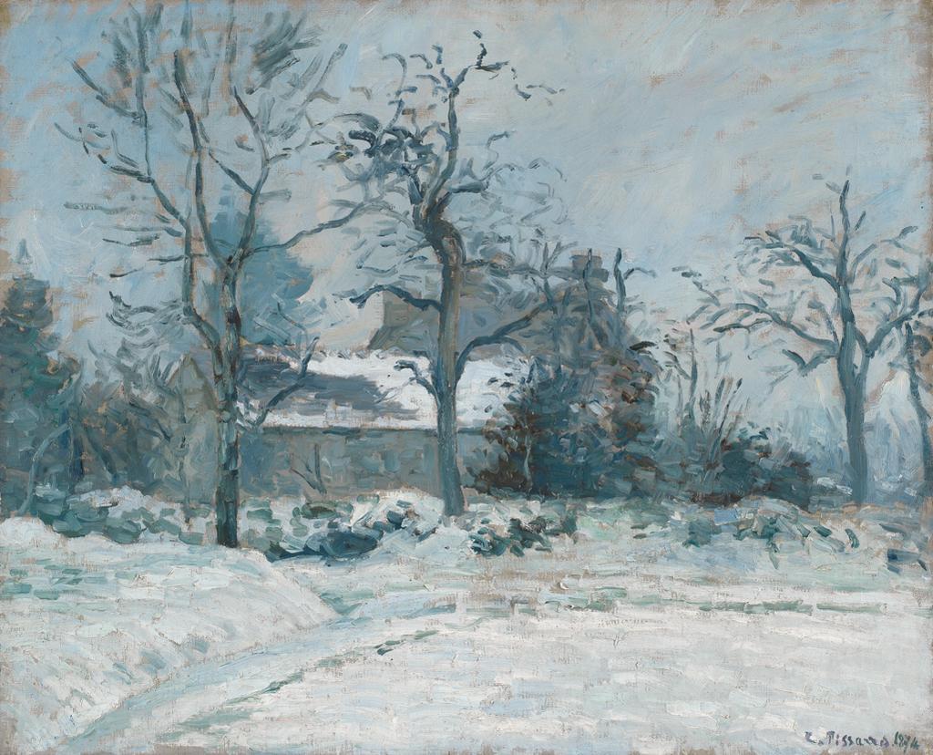 La Maison de la Piette, Montfoucault, effet de neige
