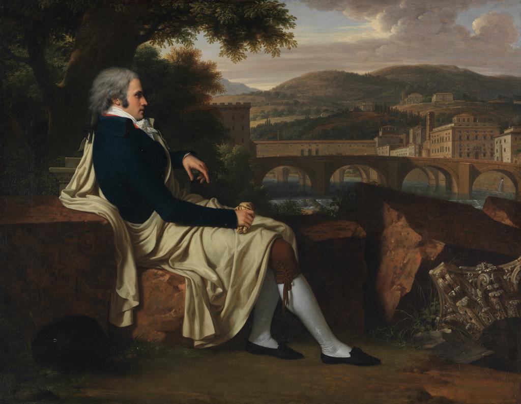 Joseph Allen Smith Contemplating Florence Across the Arno