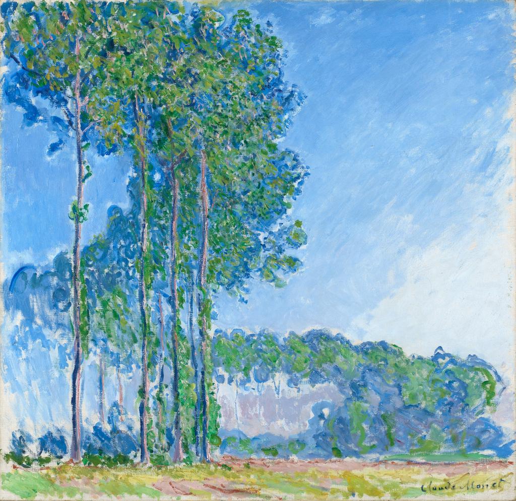 Poplars by Monet