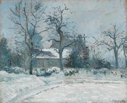 Piette's House at Montfoucault: Snow Effect, 1874