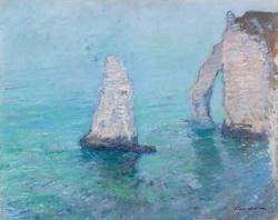 The Rock Needle and Porte d'Aval, Etrétat, c.1885 -1886
