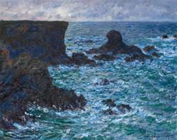 Rocks at Port-Coton, the Lion Rock, Belle-Île, 1886