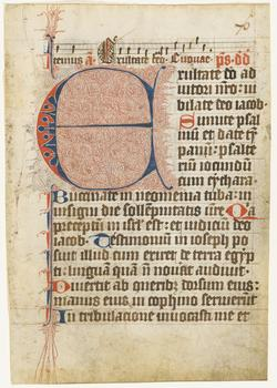 An image of Leaf (from a psalter)