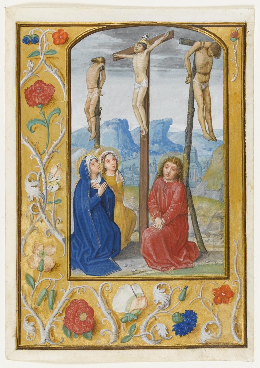 Miniature from the Hours of Albrecht of Brandenburg: Crucifixion