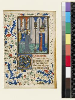 An image of Fragment of Book of Book of Hours (leaf from FM 54)